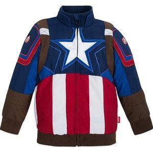 Marvel Captain America Jacket for Boys